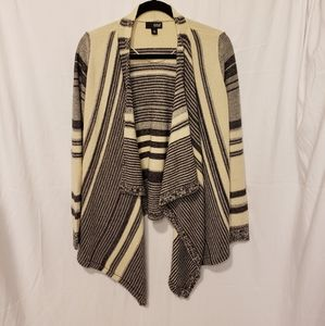 a.n.a | striped chunky open cardigan